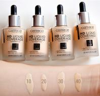 Тональная основа CATRICE HD Liquid Coverage Foundation 010 Light Beige