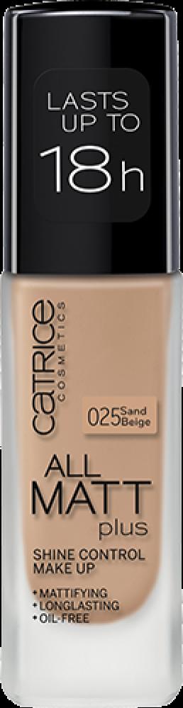 Основа тональная CATRICE All Matt Plus Shine Control Make Up 025 Sand Beige