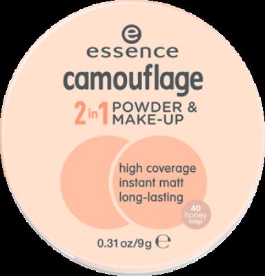 Пудра компактная Camouflage 2 in 1 Powder & Make-up Essence 40 honey beige: фото