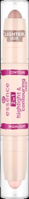 Хайлайтер и контур 2in1 Highlight & Contouring Stick Essence 10 blondie: фото