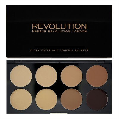 Набор консилеров Makeup Revolution Ultra Cover and Conceal Palette Medium - Dark: фото