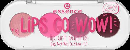 Палетка помад для губ 4 в 1 Essence Lips go wow! lip art palette 01 темно-розовые: фото