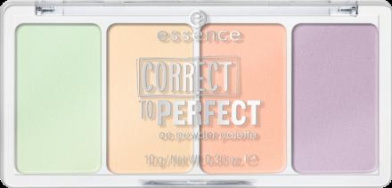 Палетка пудровых корректоров Сorrect to perfect cc powder palette Essence 10: фото