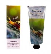 Крем для рук с экстрактом улитки FARMSTAY Visible differerce hand cream snail 100 мл: фото