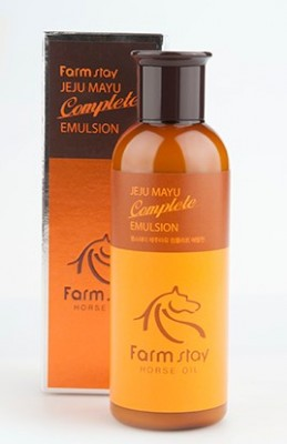 Эмульсия увлажняющая с лошадиным жиром FARMSTAY Jeju mayu complete emulsion 200мл: фото
