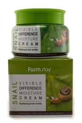 Крем увлажняющий с улиточным муцином FARMSTAY Visible differerce moisture cream snail 100г: фото