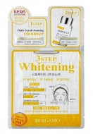 Трехэтапная маска для лица осветляющая BERGAMO 3 step mask pack (whitening): фото