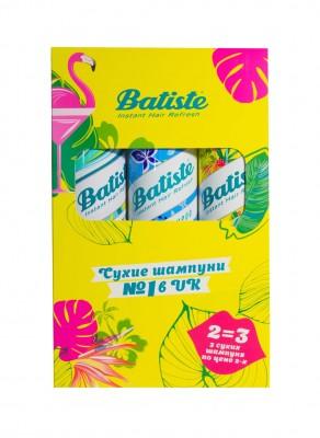 Набор BATISTE Tropical 200мл+Original 200мл+Fresh 200 мл Третий шампунь в подарок: фото