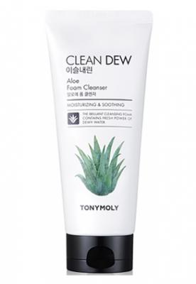 Пенка для умывания с алоэ TONY MOLY Clean dew aloe foam cleanser 180 мл: фото