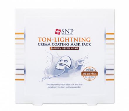 Маска для лица осветляющая SNP Ton-lightning cream coating mask pack 20 г: фото