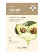 Маска для лица с экстрактом авокадо THE FACE SHOP Real nature mask sheet avocado 20 г.: фото