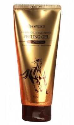 Пилинг-скатка с лошадиным жиром DEOPROCE Horse oil hyalurone peeling gel 170г: фото