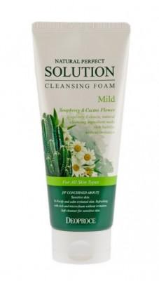 Пенка для умывания с ромашкой и кактусом DEOPROCE Natural perfect solution cleansing foam mild 170г: фото