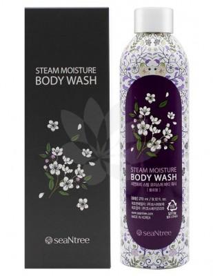 Увлажняющий гель для душа флора сиреневый SEANTREE Steam moisture body wash Floral-2 270мл: фото