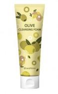 Пенка для умывания с экстрактом оливы SEANTREE Olive cleansing foam 120мл: фото