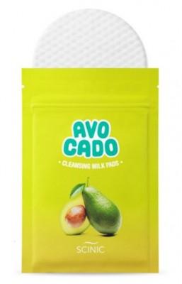 Очищающие cпонжи для снятия макияжа SCINIC Avocado Cleansing Milk Pads: фото