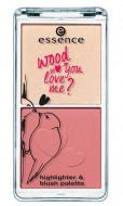 Палетка хайлайтера и румян 2в1 Essence Wood You Love Me? Highlighter & Blush Palette: фото