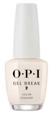 Ухаживающее покрытие с эффектом цвета OPI Gel Break Barely Beige NTR05 бежевый нюдовый: фото