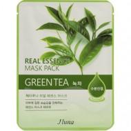 Тканевая маска с зеленым чаем Juno Real Essense Mask Pack (Green Tea) 25мл: фото