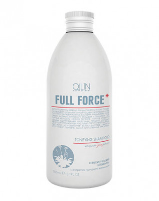 Шампунь тонизирующий с экстрактом пурпурного женьшеня OLLIN Full Force 300мл: фото