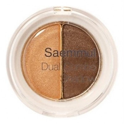 Тени для век двойные THE SAEM Saemmul Dual Combo Shadow 02 OK Orange 1,4гр*2: фото