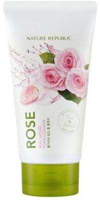 Пенка для умывания с экстрактом розы NATURE REPUBLIC REAL NATURE ROSE FOAM CLEANSERR 150мл: фото