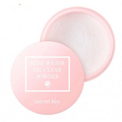 Пудра рассыпчатая для жирной кожи SECRET KEY Rose Water Oil Clear Powder 5g: фото