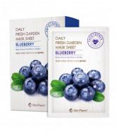 Маска для лица тканевая черника Mijin Skin Planet daily fresh garden mask sheet BLUEBERRY 25гр: фото