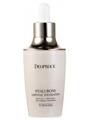 База под макияж с гиалуроновой кислотой DEOPROCE HYALURONE AMPOULE FOUNDATION 23# Sand Beige 60г: фото