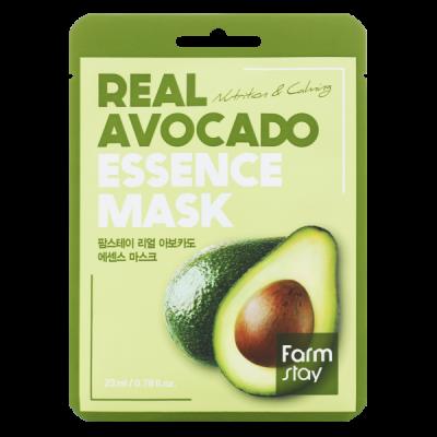 Тканевая маска для лица с экстрактом авокадо FARMSTAY REAL AVOCADO ESSENCE MASK 23 мл: фото