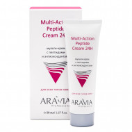Мульти-крем с пептидами и антиоксидантным комплексом для лица ARAVIA Professional Multi-Action Peptide Cream 50 мл: фото