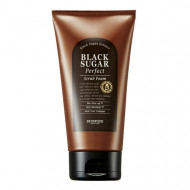 Пенка-скраб для умывания с экстрактом черного сахара SKINFOOD Black Sugar Perfect Scrub Foam 180г: фото