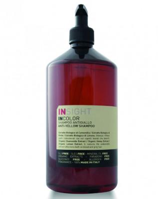 Шампунь для нейтрализации жёлтого оттенка волос INSIGHT Incolor ANTI-YELLOW 900мл: фото