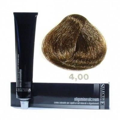 Крем-краска олигоминеральная Selective Professional OLIGO MINERAL CREAM 4.00 Каштановый глубокий 100мл: фото