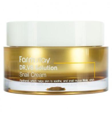 Крем с муцином улитки FarmStay Dr.V8 Solution Snail Cream 50мл: фото