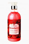 Гель для душа с экстрактом клубники Lunaris Body Wash Strawberry 750мл: фото