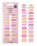 Наклейки для ногтей THE SAEM Nail Wear Art Gel Sticker 01Cream Pink Glitter: фото