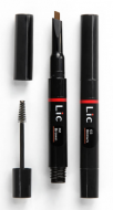 Карандаш механический для бровей 2 в 1 с гелем для моделирования Lic Mechanical eyebrow pen 02 Brown: фото